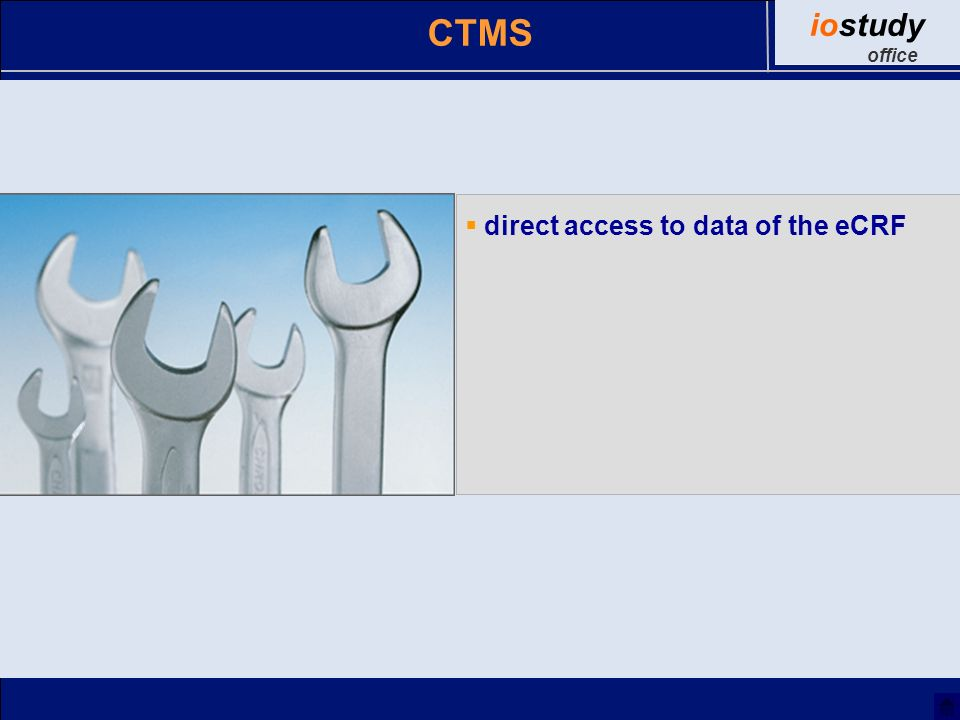 direct access to data of the eCRF CTMS iostudy office
