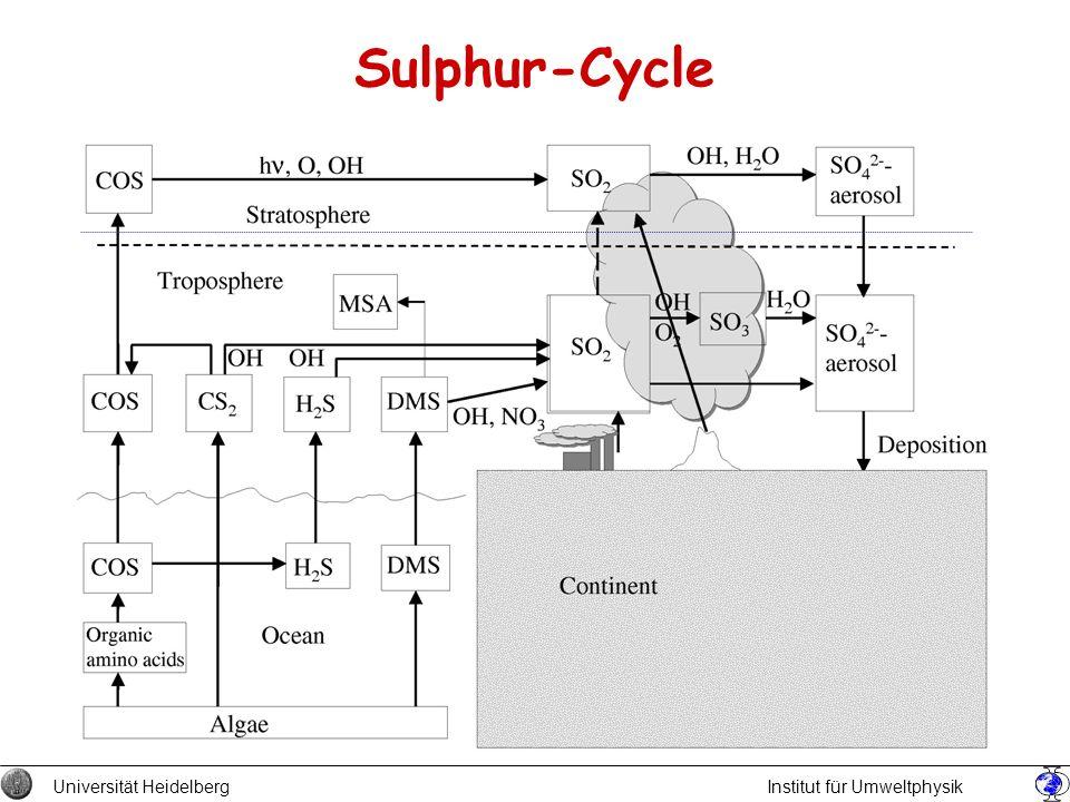 Sulphur-Cycle Universität Heidelberg Institut für Umweltphysik