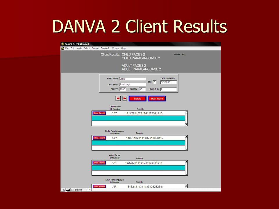 DANVA 2 Client Results