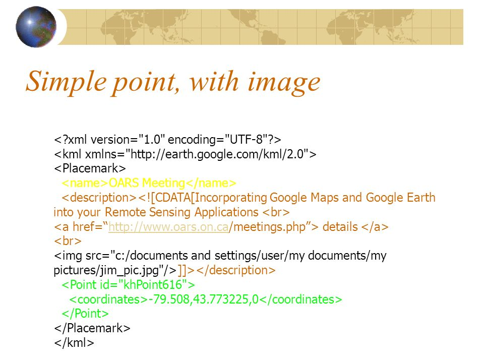 Simple point, with image OARS Meeting details http://www.oars.on.ca ]]> -79.508,43.773225,0