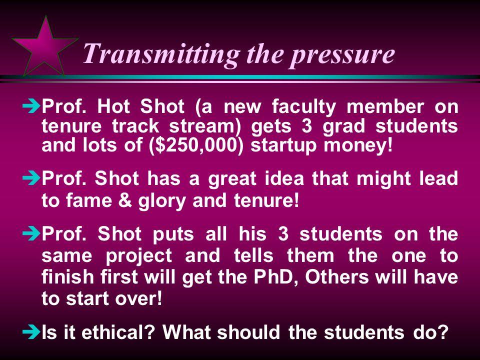 Transmitting the pressure èProf.