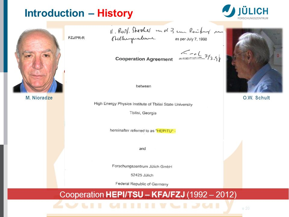 22. Januar 2014 Institut für Kernphysik (IKP) Folie 20 Introduction – History O.W.