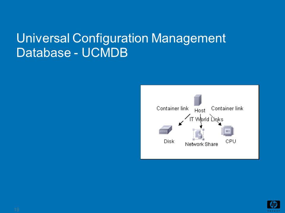 19 Universal Configuration Management Database - UCMDB