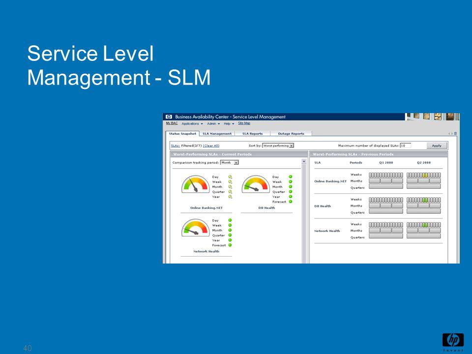 40 Service Level Management - SLM Metrics