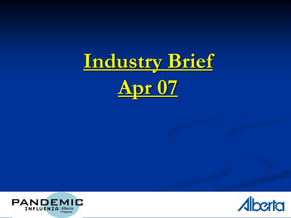 1 Industry Brief Apr 07