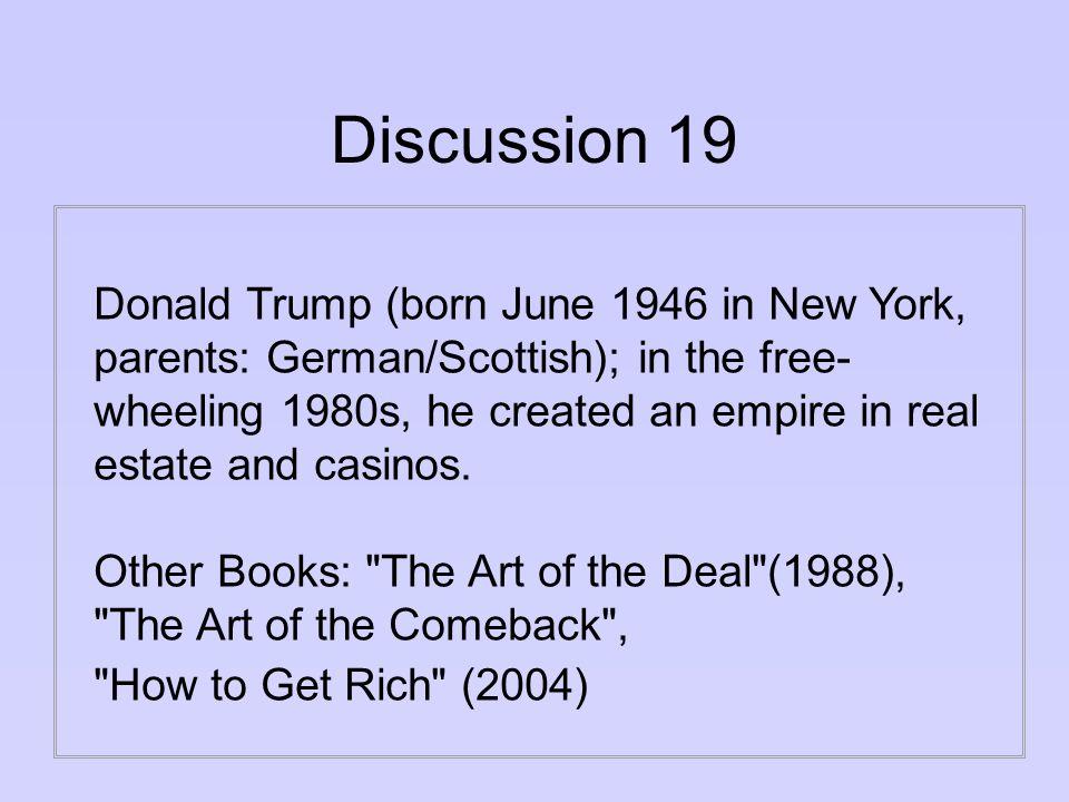 Answer 19 Donald Trump s