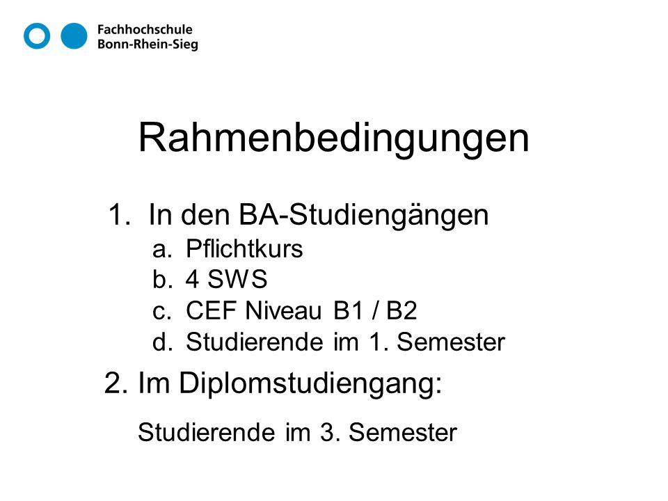 Rahmenbedingungen 1.