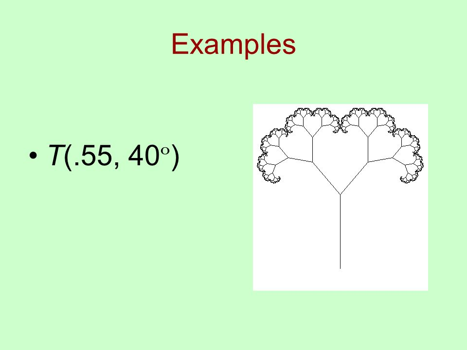 Examples T(.55, 40 º )