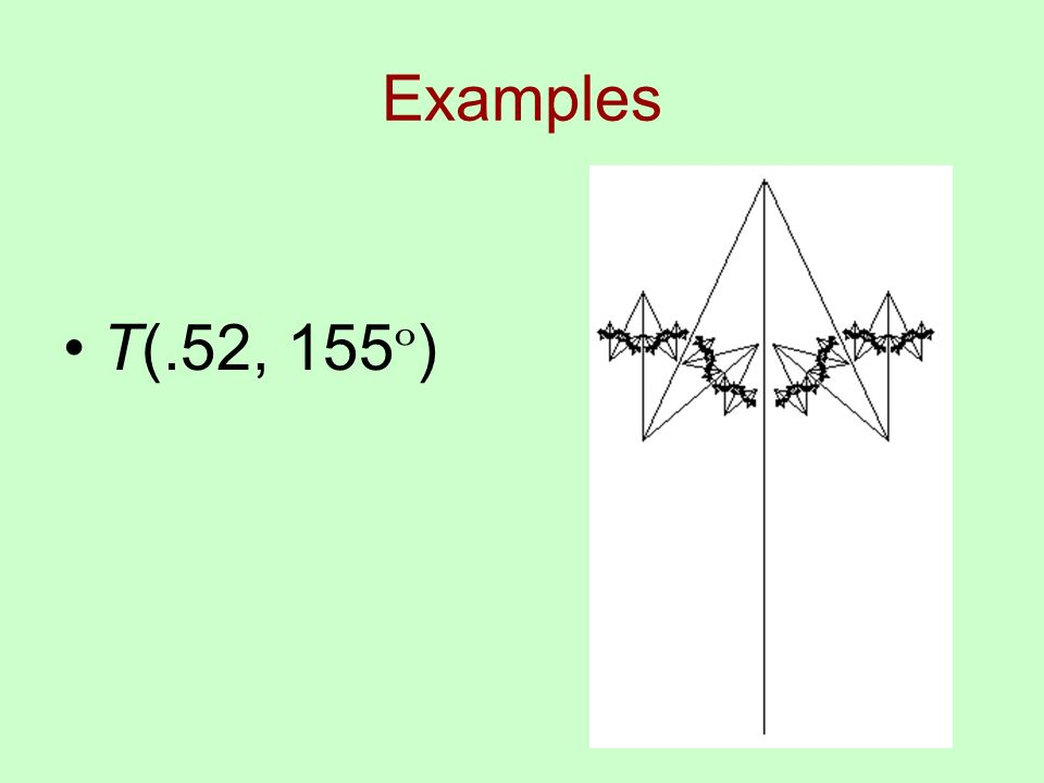 Examples T(.52, 155 º )