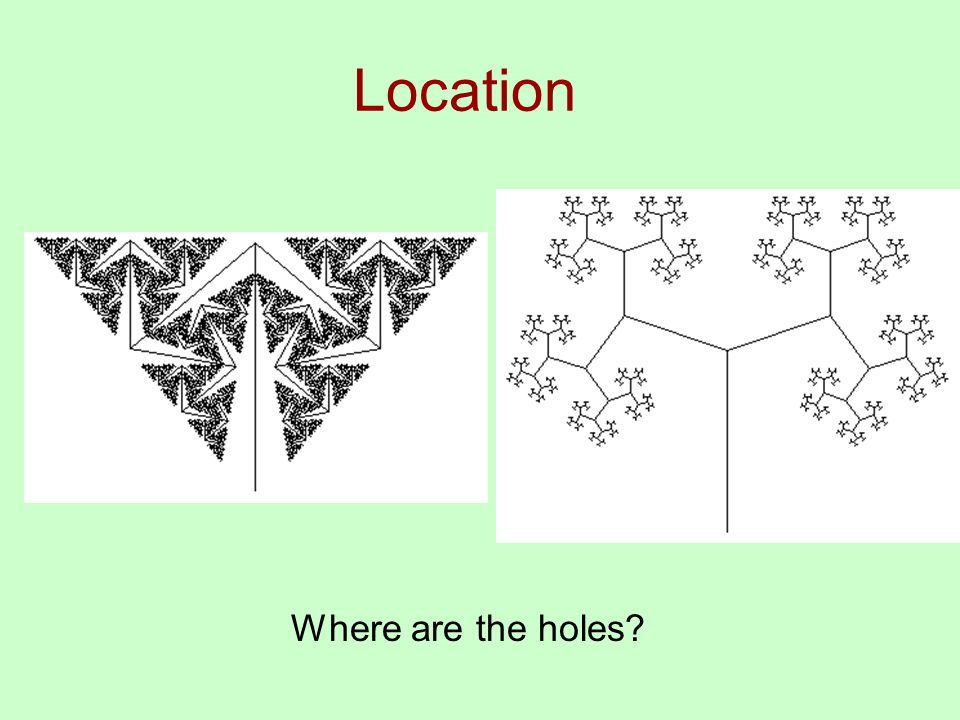 Location Where are the holes
