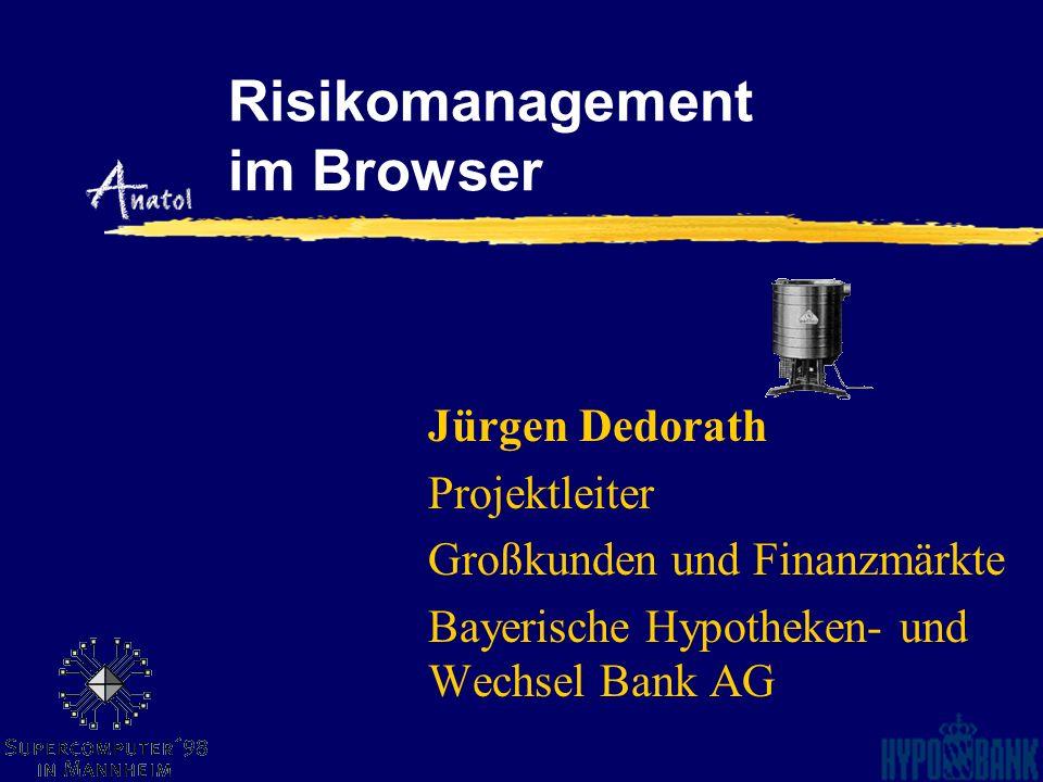 Risikomanagement im Browser Jürgen Dedorath Projektleiter Großkunden und Finanzmärkte Bayerische Hypotheken- und Wechsel Bank AG