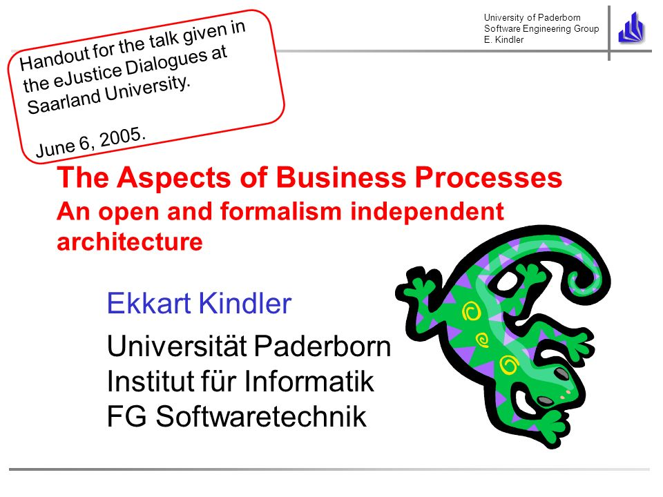 University of Paderborn Software Engineering Group E.