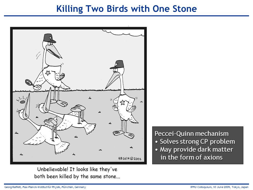 Georg Raffelt, Max-Planck-Institut für Physik, München, Germany IPMU Colloquium, 10 June 2009, Tokyo, Japan Killing Two Birds with One Stone Peccei-Qu