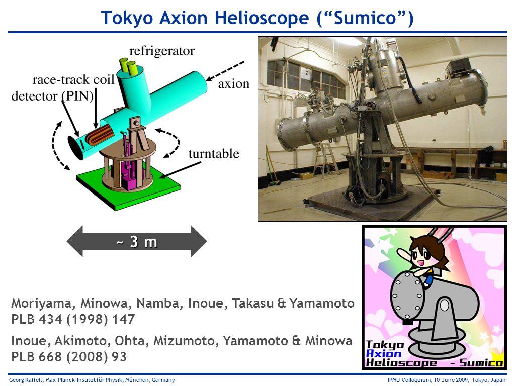 Georg Raffelt, Max-Planck-Institut für Physik, München, Germany IPMU Colloquium, 10 June 2009, Tokyo, Japan Tokyo Axion Helioscope (Sumico) Moriyama,