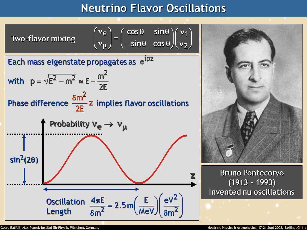 Georg Raffelt, Max-Planck-Institut für Physik, München, Germany Neutrino Physics & Astrophysics, 17-21 Sept 2008, Beijing, China Neutrino Flavor Oscil