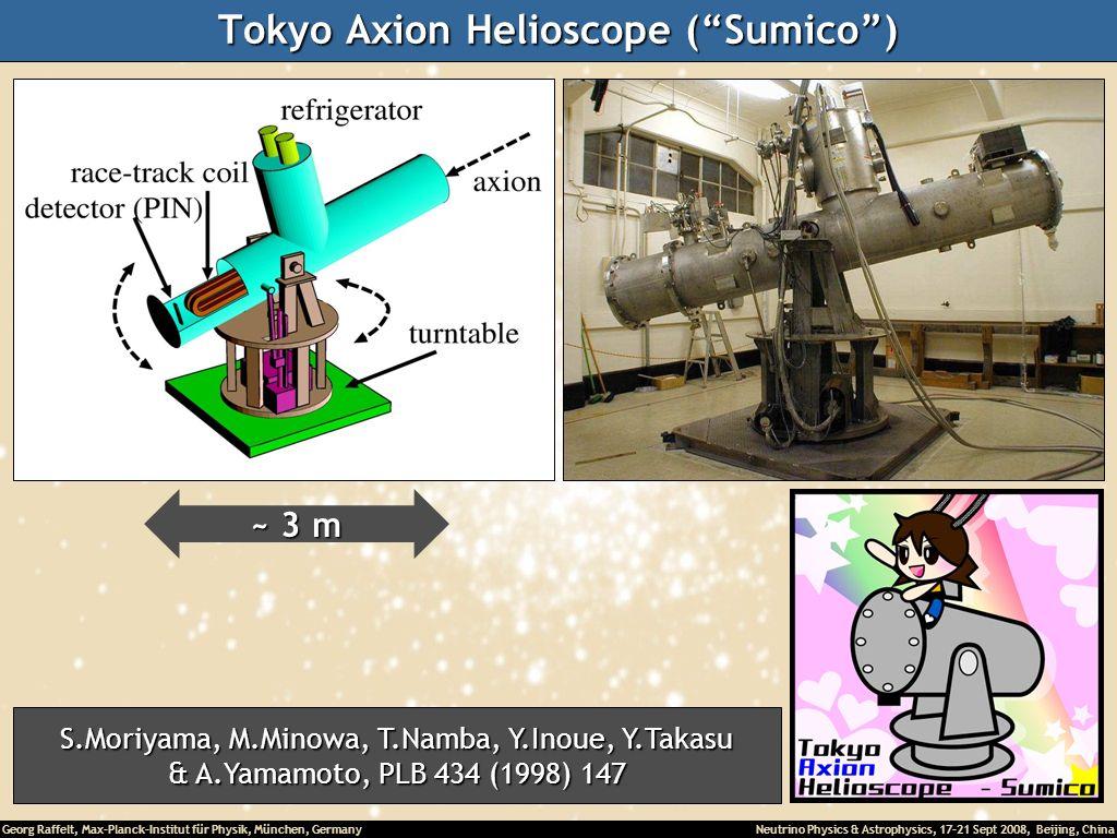 Georg Raffelt, Max-Planck-Institut für Physik, München, Germany Neutrino Physics & Astrophysics, 17-21 Sept 2008, Beijing, China Tokyo Axion Helioscop
