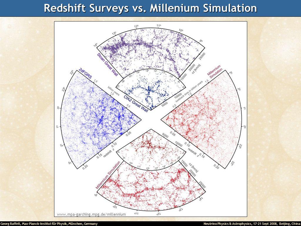 Georg Raffelt, Max-Planck-Institut für Physik, München, Germany Neutrino Physics & Astrophysics, 17-21 Sept 2008, Beijing, China Redshift Surveys vs.