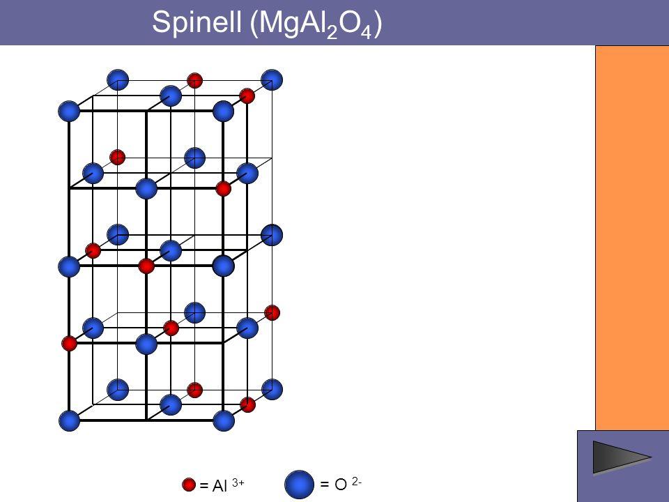 Spinell (MgAl 2 O 4 ) = O 2- = Al 3+