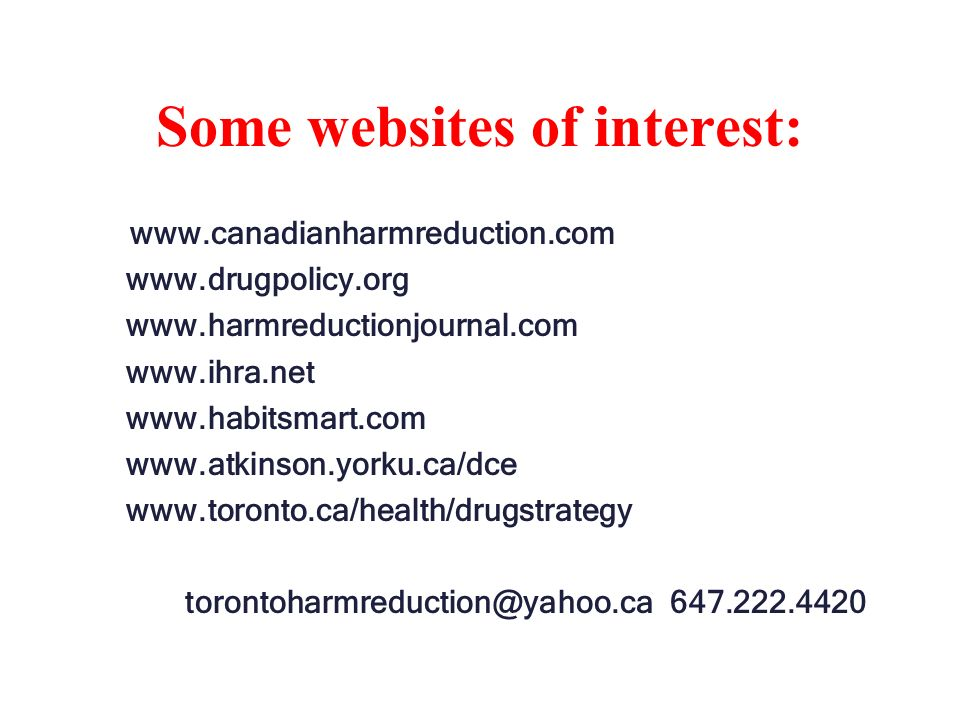 Some websites of interest: