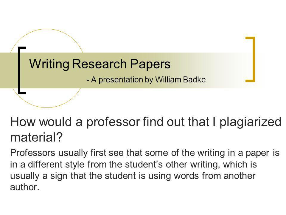non plagiarized research paper Non plagiarized research papers are simply the way to go not only academically but ethically as well instructors are so concerned when plagiarism occurs because students are simply on a particular topic which is original smart and never plagiarize, it will only turn out for the worse.