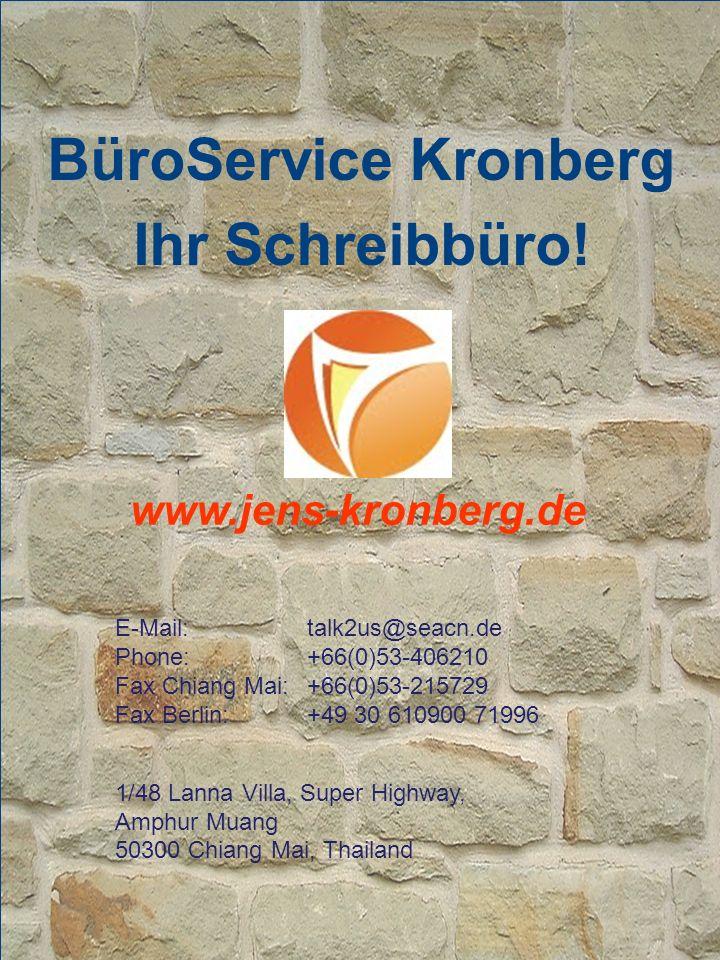 BüroService Kronberg Ihr Schreibbüro.