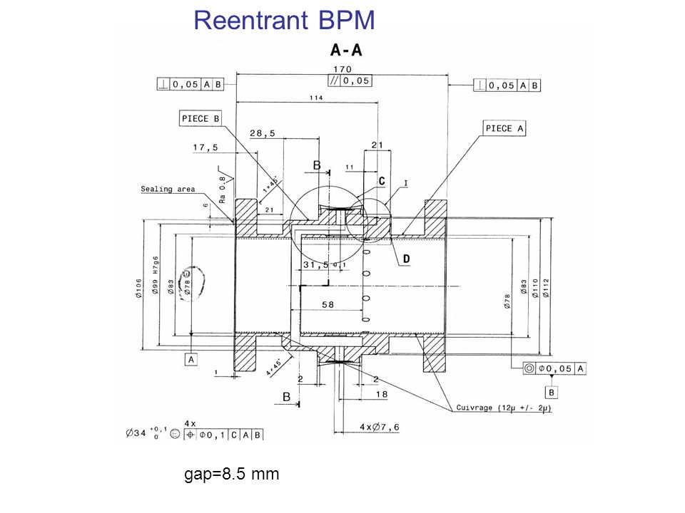 gap=8.5 mm Reentrant BPM