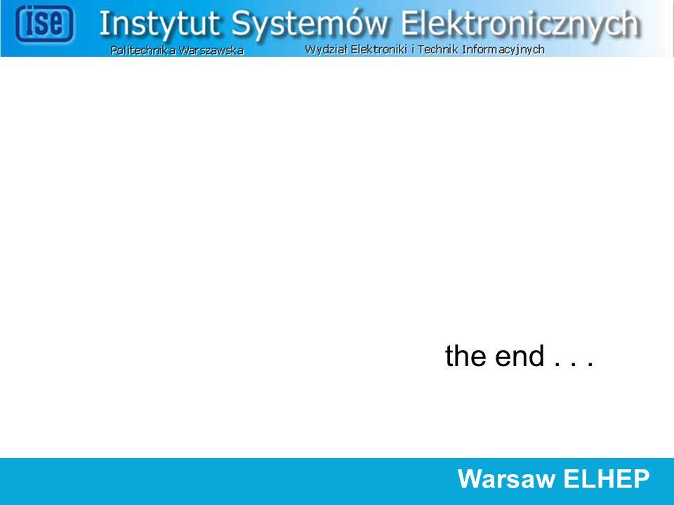 the end... Warsaw ELHEP