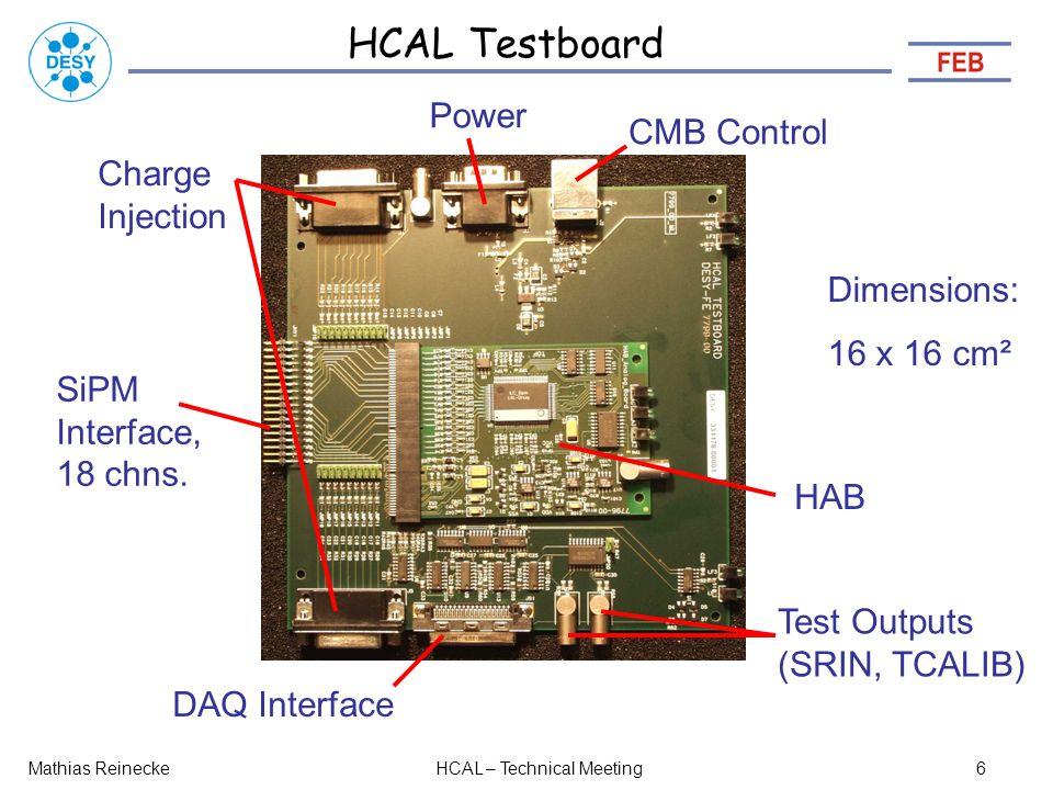 HCAL Testboard SiPM Interface, 18 chns.