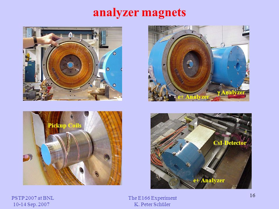 16 analyzer magnets The E166 Experiment K.