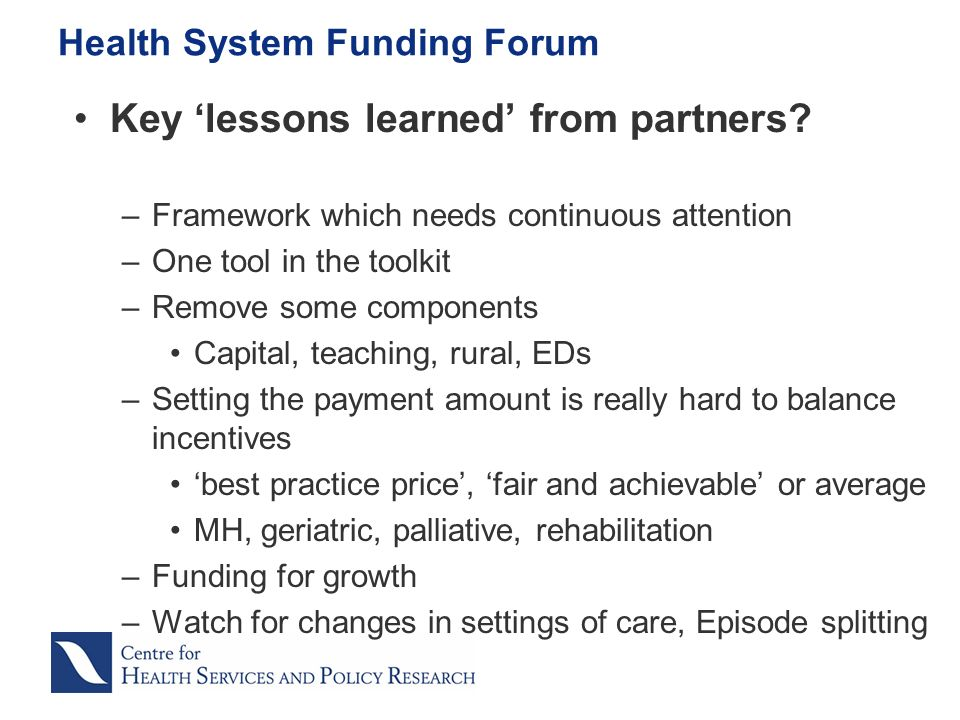 Key lessons learned from partners.