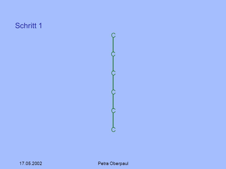 17.05.2002Petra Oberpaul C C C C C C Schritt 1