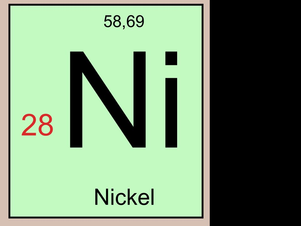 Ni 58,69 28 Nickel