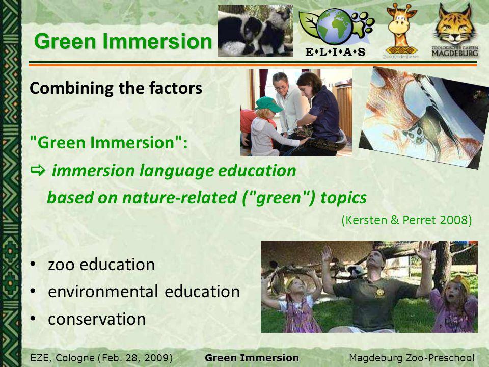 E L I A S EZE, Cologne (Feb. 28, 2009)Magdeburg Zoo-Preschool Green Immersion Combining the factors