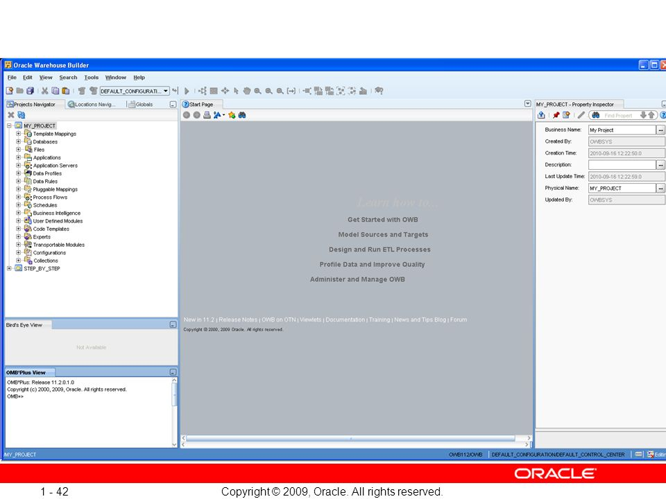 Copyright © 2009, Oracle. All rights reserved. 1 - 42