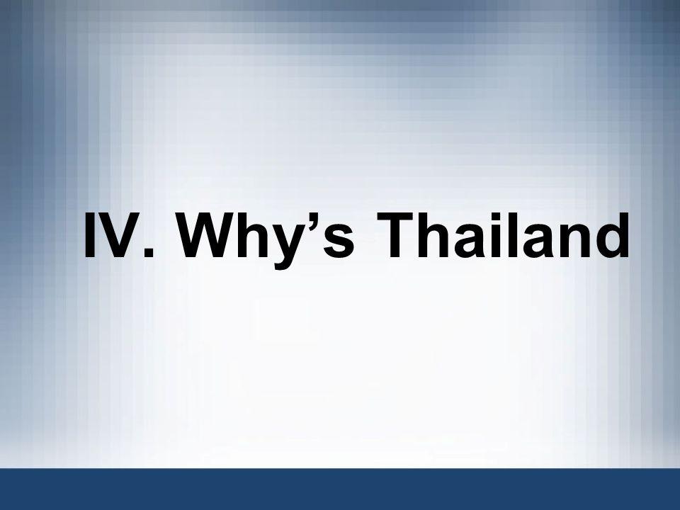 IV. Whys Thailand