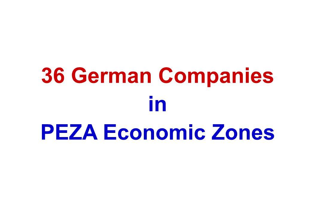 36 German Companies in PEZA Economic Zones