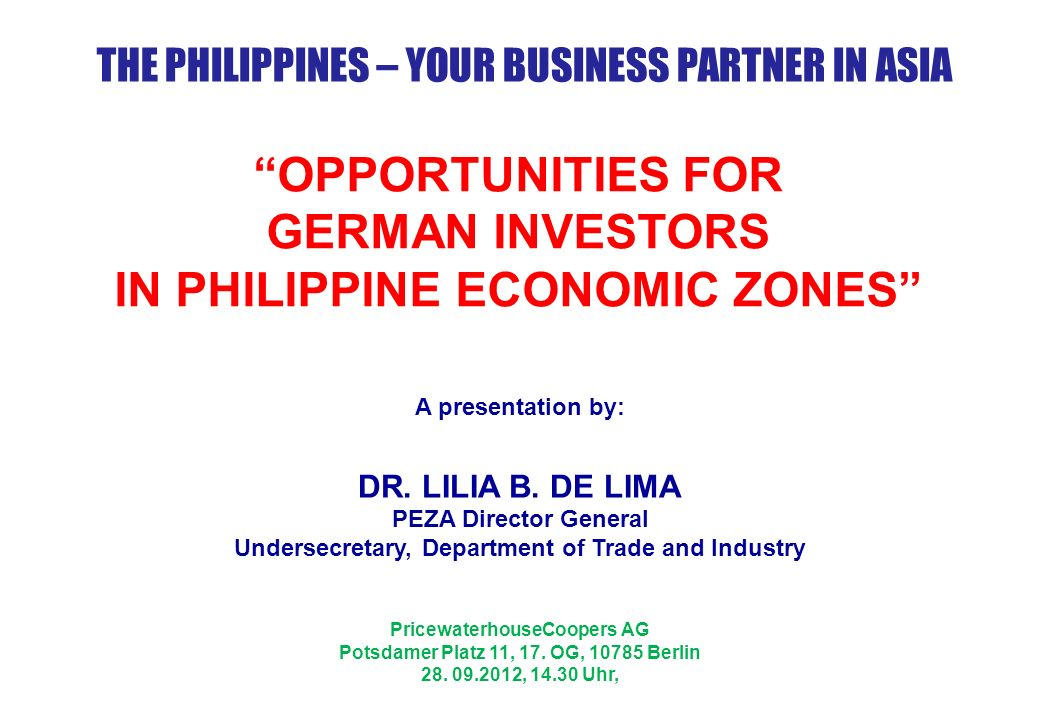 An investment promotion and incentive granting agency attached to the Department of Trade and Industry.