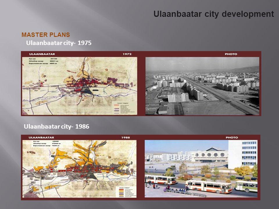 Ulaanbaatar city- 1986 Ulaanbaatar city- 1975 Ulaanbaatar city development MASTER PLANS