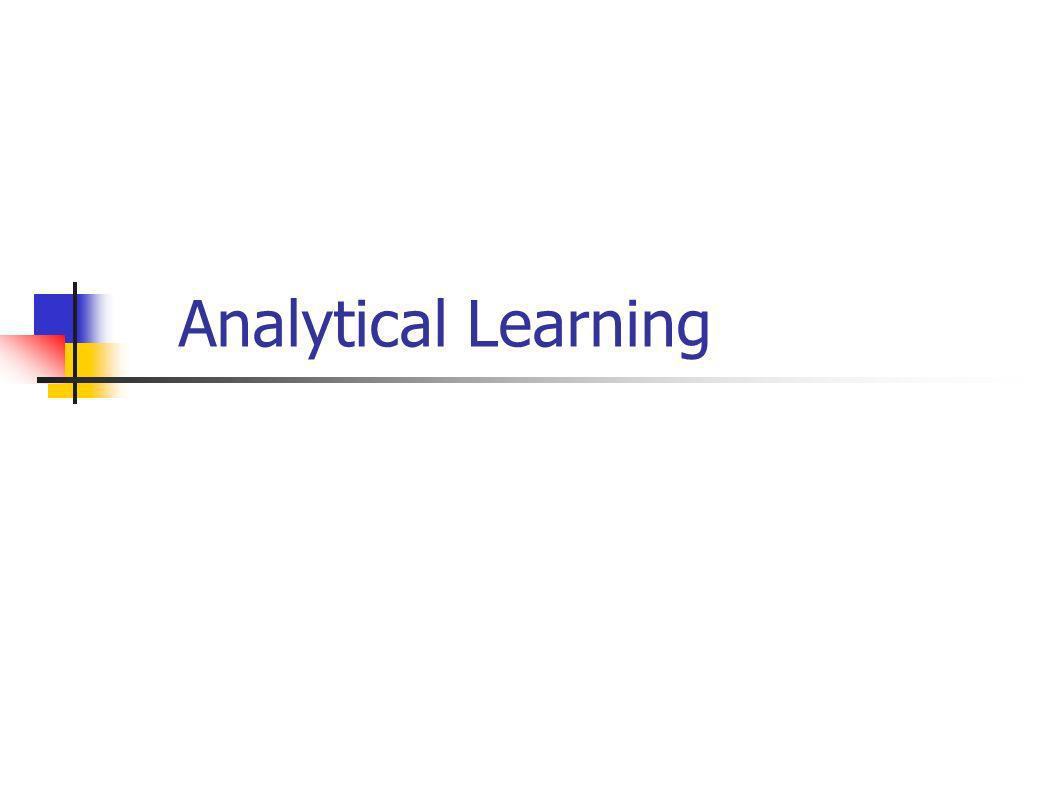 Analytical Learning
