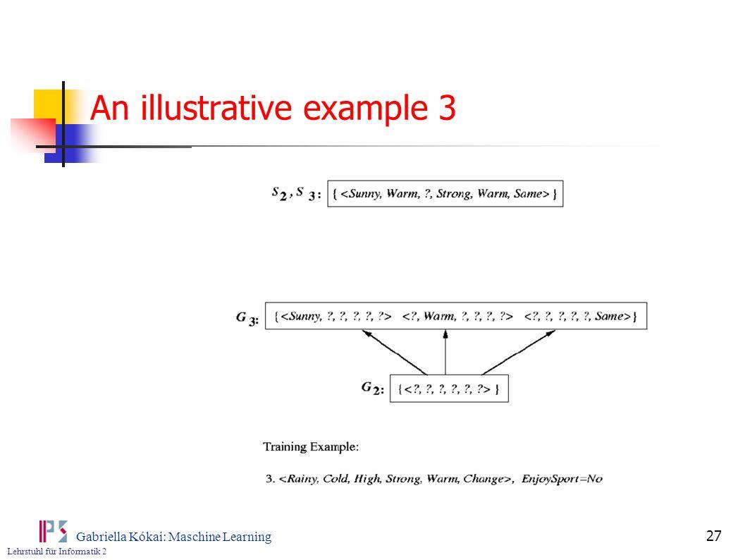 Lehrstuhl für Informatik 2 Gabriella Kókai: Maschine Learning 27 An illustrative example 3