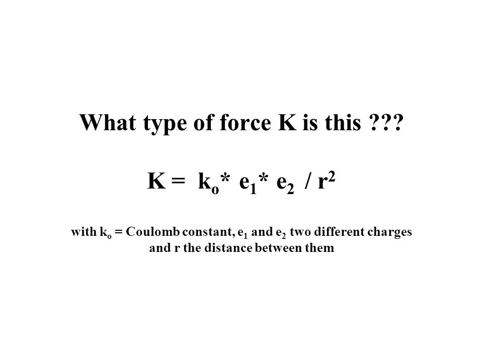 What type of force K is this .