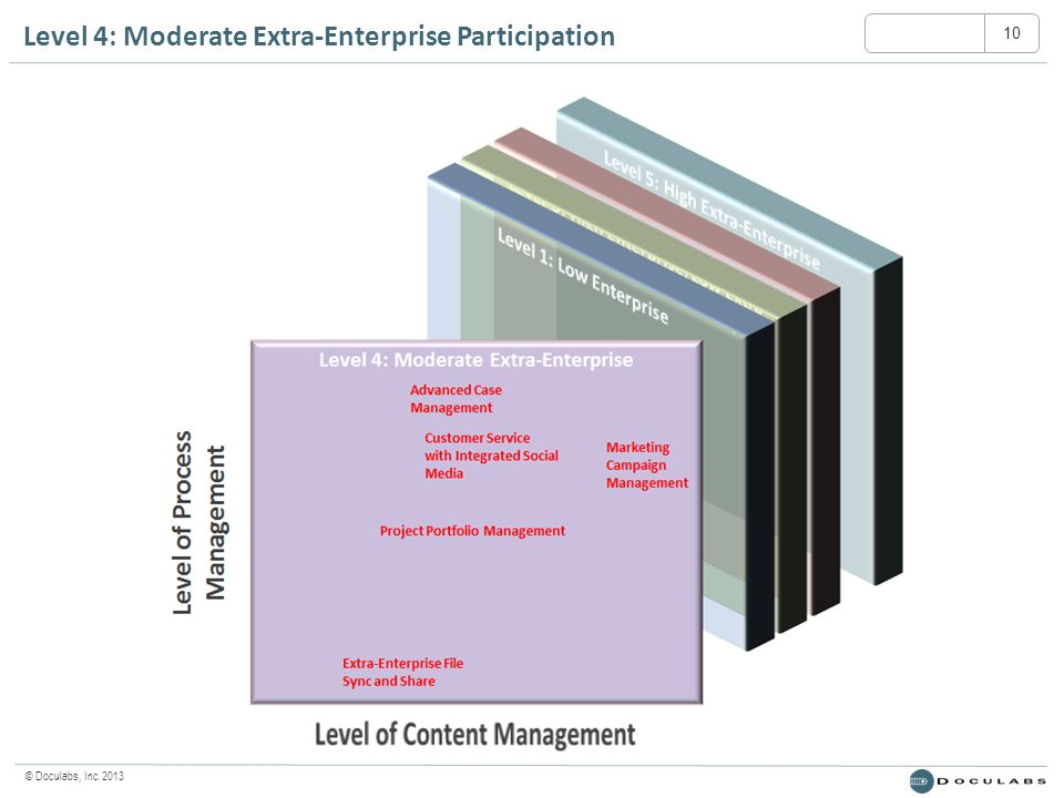 © Doculabs, Inc. 2013 Level 4: Moderate Extra-Enterprise Participation 10