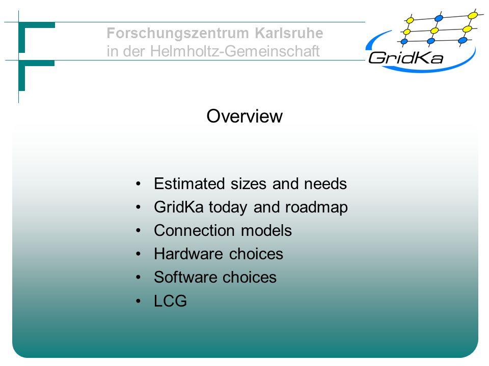 Forschungszentrum Karlsruhe in der Helmholtz-Gemeinschaft SRM Storage resource manager Glue between worldwide grid and local mass storage (SE) A storage element should offer: –GridFTP –An SRM interface –Information publication via MDS LCG has SRM2 almost ….