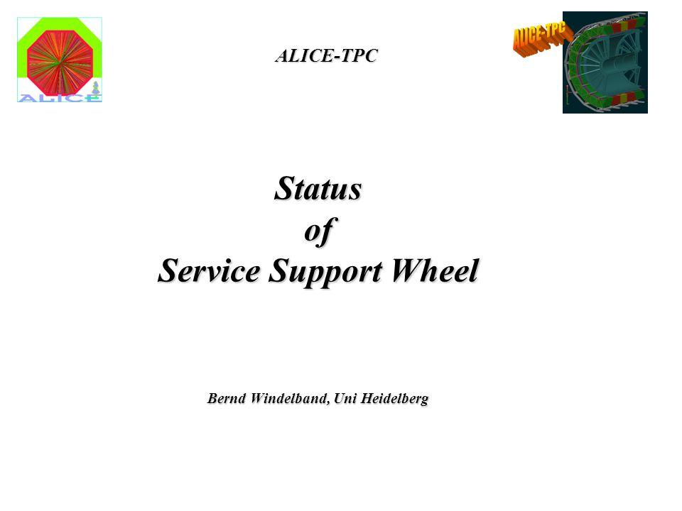 Status of Service Support Wheel Bernd Windelband, Uni Heidelberg ALICE-TPC