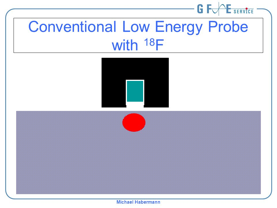 Michael Habermann Conventional Low Energy Probe with 18 F