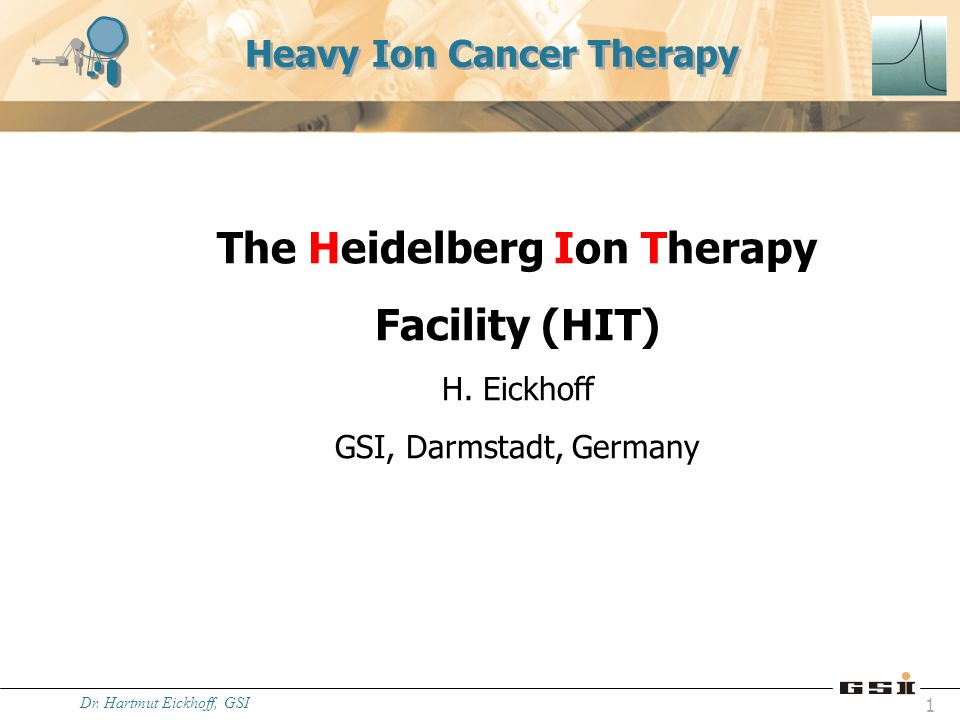 Dr. Hartmut Eickhoff, GSI 12 Status control-room