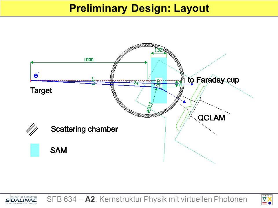 Preliminary Design: Layout SFB 634 – A2: Kernstruktur Physik mit virtuellen Photonen