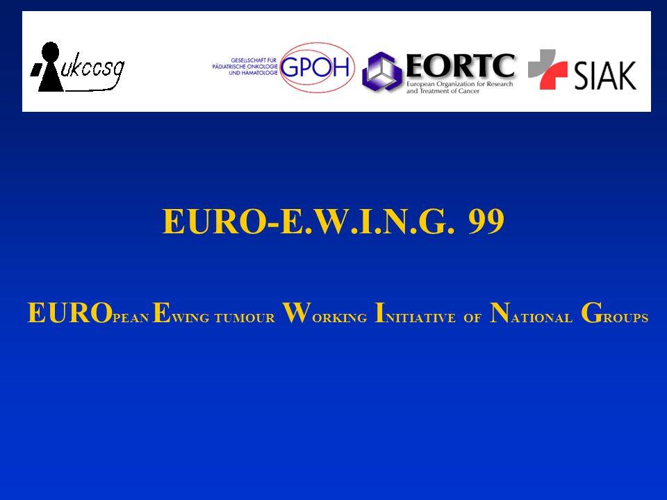 EURO-E.W.I.N.G. 99 EURO PEAN E WING TUMOUR W ORKING I NITIATIVE OF N ATIONAL G ROUPS