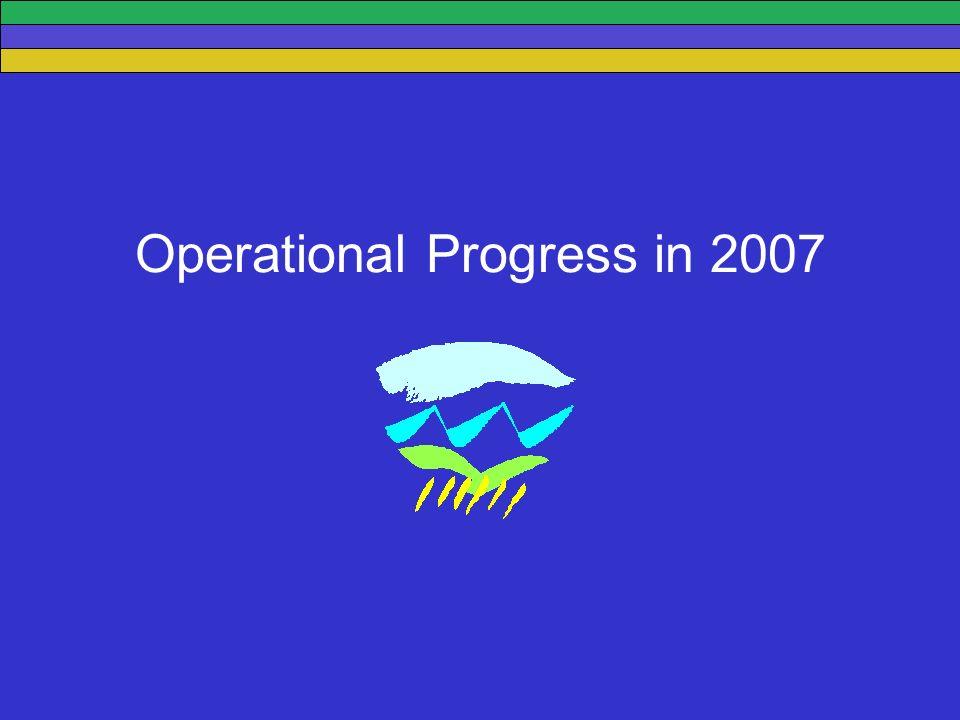 Operational Progress in 2007