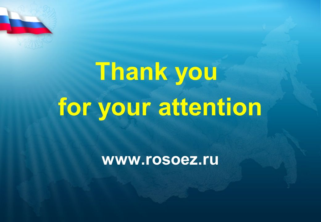 Thank you for your attention www.rosoez.ru